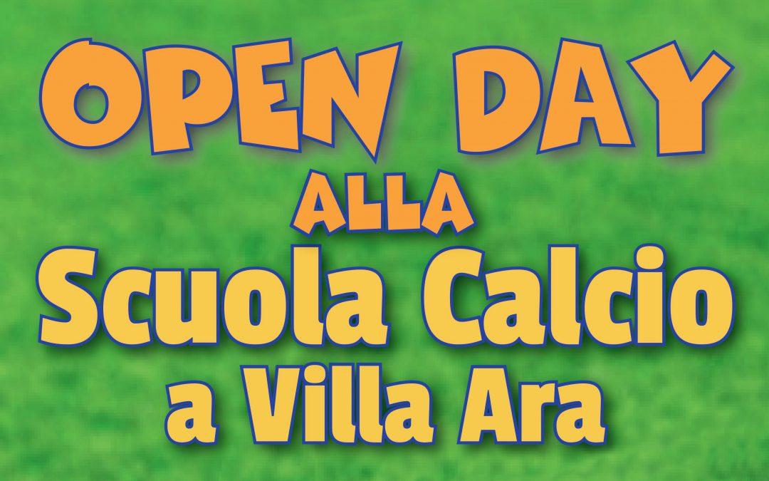 Open Day alla Scuola Calcio di Villa Ara
