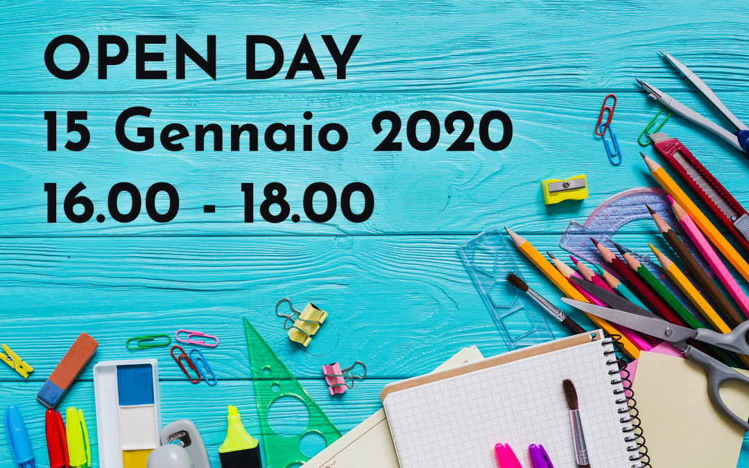 Nuovo Open Day Mercoledì 15 Gennaio